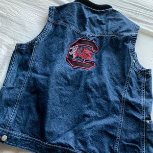 USC Patched Spirit Vintage Denim Vest